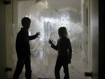 Tempered thermoformed glass door, Bruno Loire creations, Ste Anne d'Auray, France
